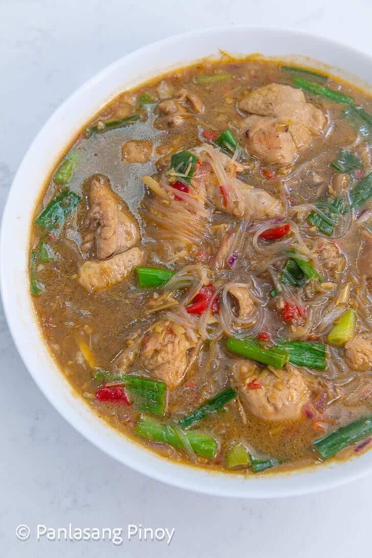 spicy sotanghon chicken soup_