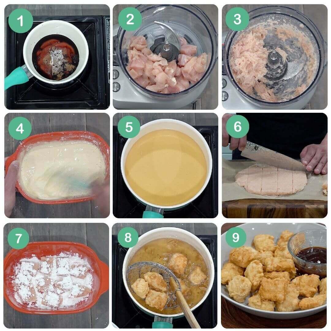 chicken nuggets step-by-step procedure