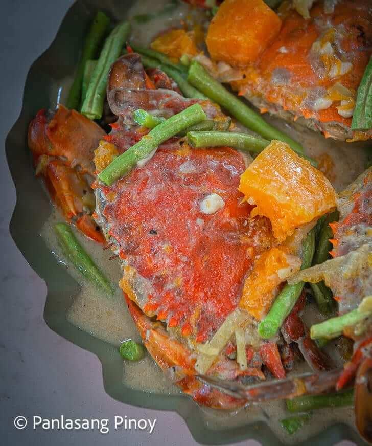 ginataang alimasag with sitaw at kalabasa recipe