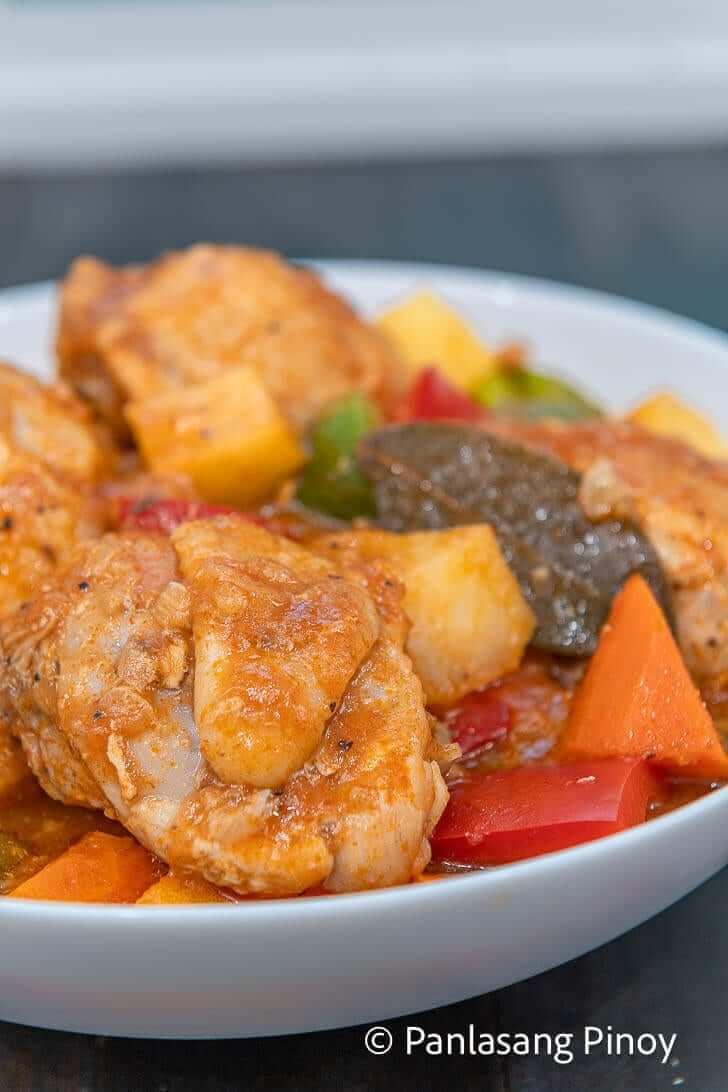 how to cook pineapple chicken afritada