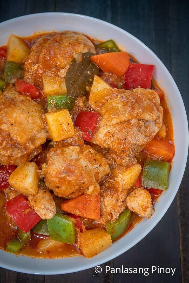 pineapple chicken afritada recipe