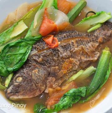 air fried fish sinigang sa miso recipe
