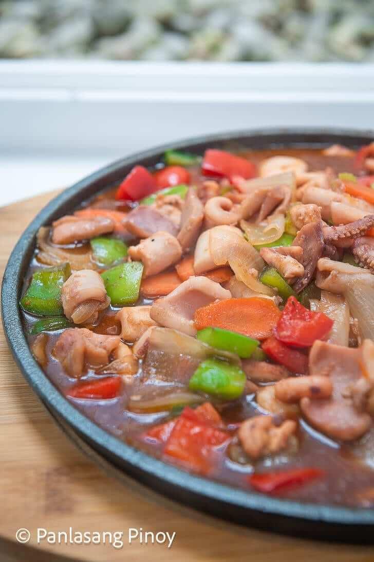 sizzling pusit recipe panlasang pinoy