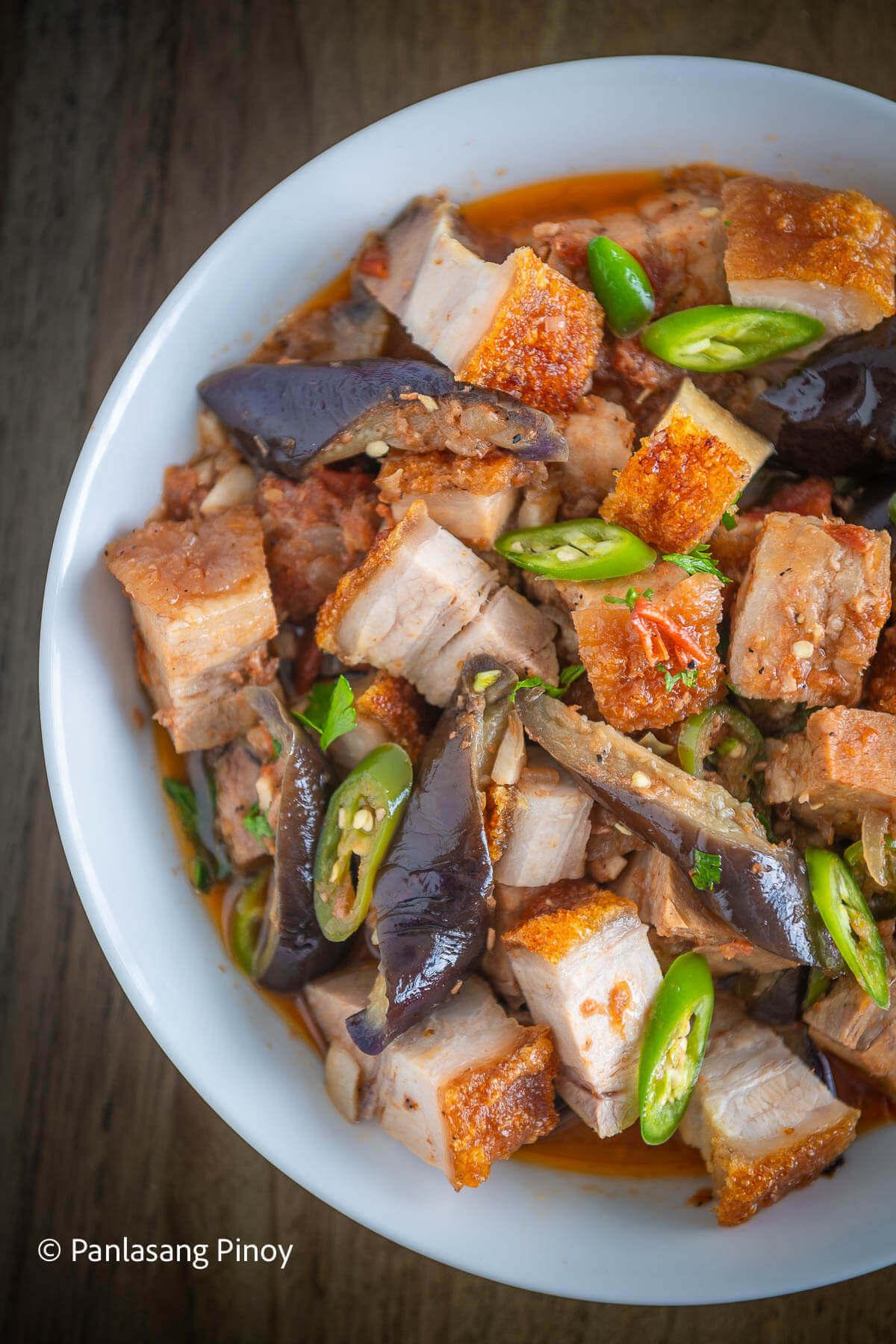 Binagoongan Bagnet with Talong Recipe