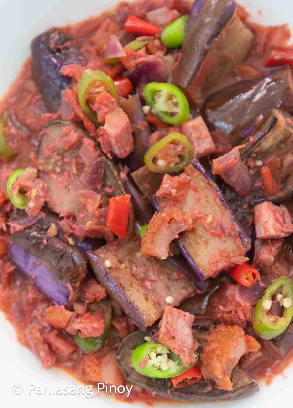 Binagoongang Talong Recipe