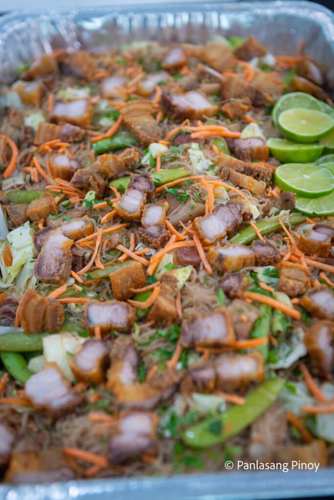 Bihon with Lechon Kawali Recipe