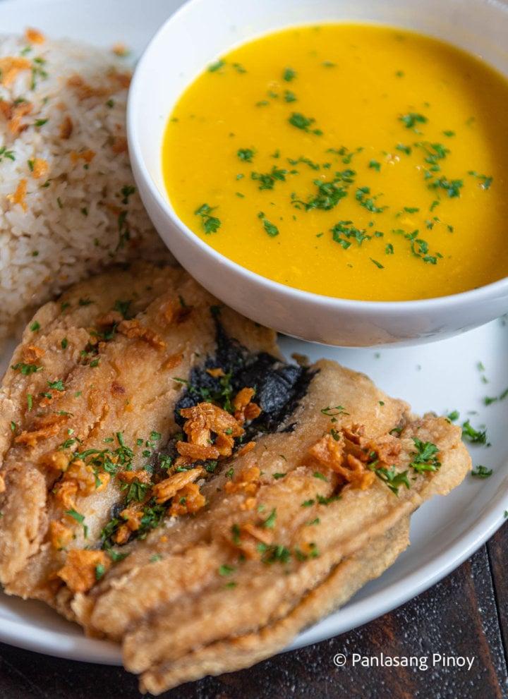 Crispy Garlic Bangus Recipe and Cream of Pumpkin Soup